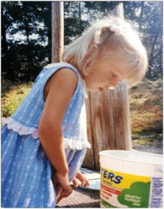 My niece, Kelsey Herrington seeing the world through a child's mind